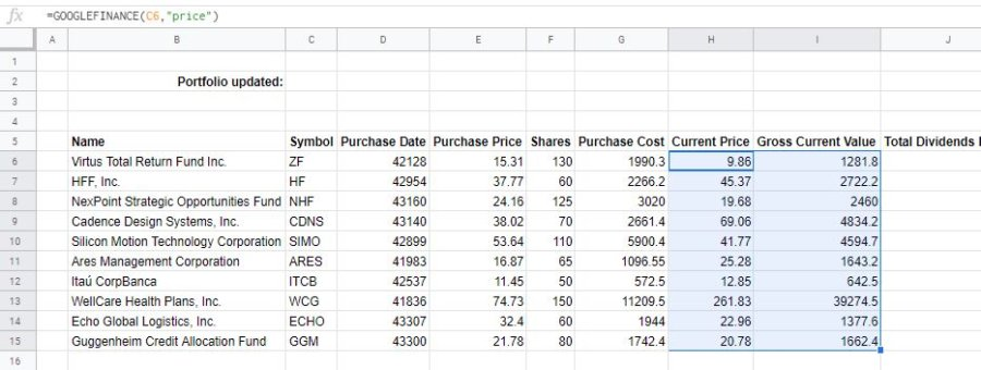 how-to-make-a-stock-portfolio-in-excel-current-price-value