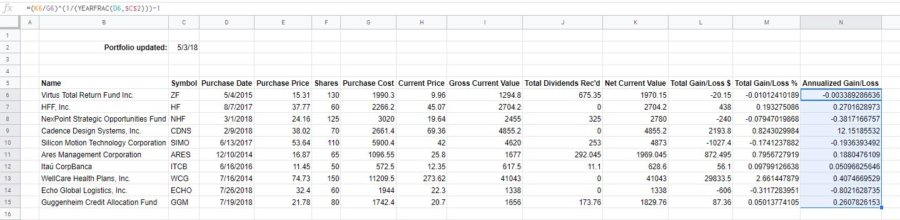 how-to-make-a-stock-portfolio-in-excel-gain-loss