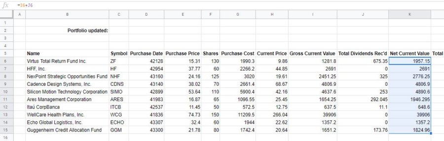 how-to-make-a-stock-portfolio-in-excel-net-current-value
