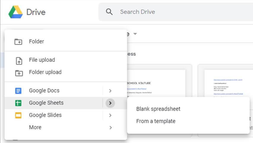 new-google-sheet