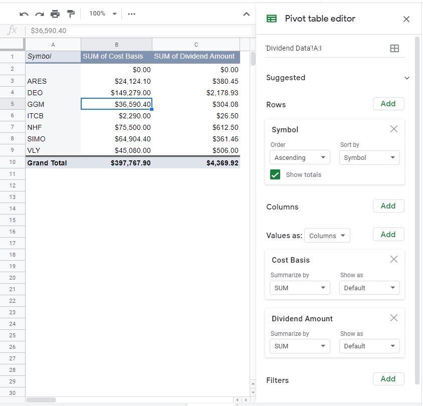 pivot table editor 2
