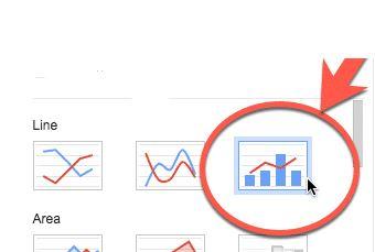 google sheets combo chart icon