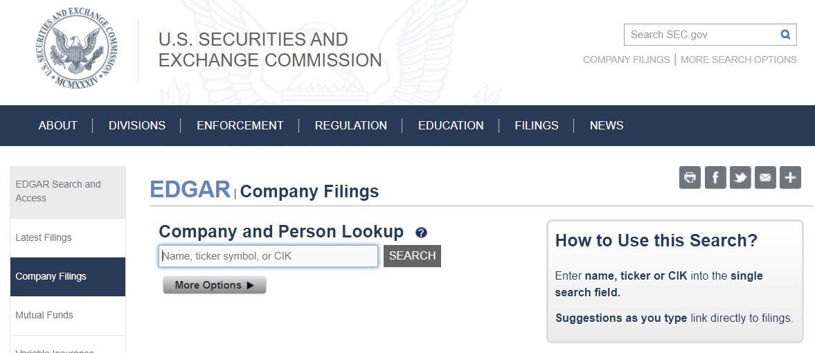 sec company search
